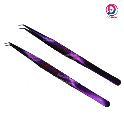14cm Long 45˚ Angle Eyelash Tweezers