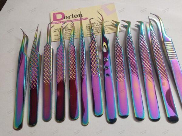 Eyelash Extension Tweezers Set