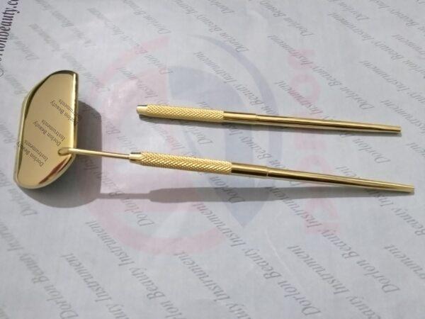 24K Gold Plated Square Eyelash Mirrors