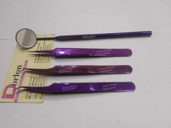 Precision Lash Extension Tweezers Set
